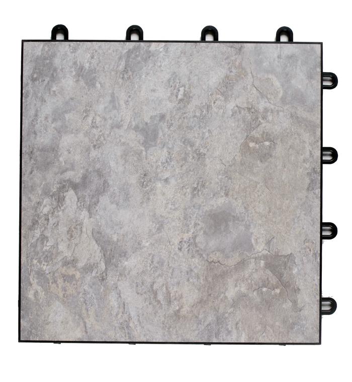 Vinyl Tiles, Grey Stone, Maple Plank