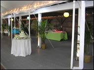 TempFloor Under Tent