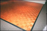 Vinyl Dance Floor Installed