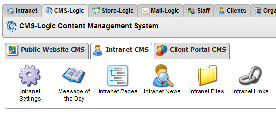 Intranet CMS Links