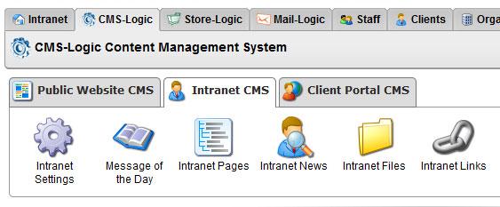Intranet CMS Links