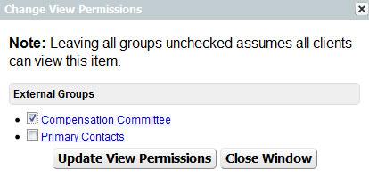 Portal Permissions