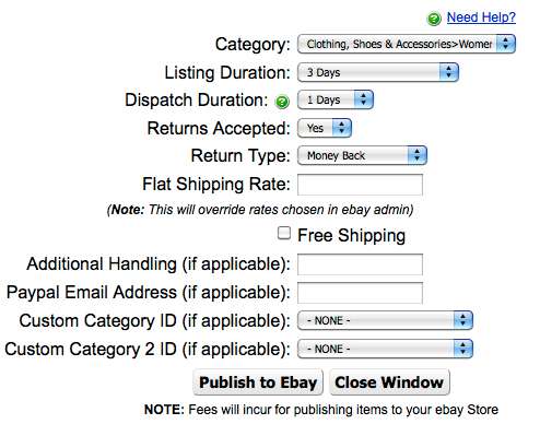 Ebay Store Integration Team Logic Help System