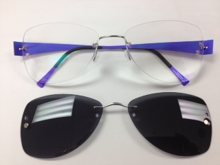 Clip On Sunglasses For Rimless  chemistrie by eyenovate makes clip on glasses obsolete with new