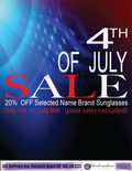 Shademakers 4th of July Sale on Through Sunday the 8th