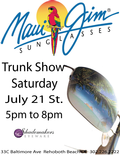 Shademakers Maui Jim Trunk Show July 21 from 5 - 8 PM